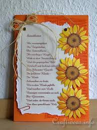 free greeting cards free greeting card crafts sunflower card