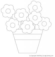 clip art flower pot coloring pages mycoloring free printable