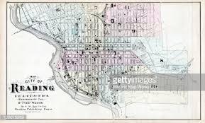 map of berks county pa pennsylvania 1876 reading city ward map berks county stock