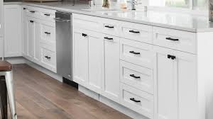 black kitchen cabinets with black hardware white shaker cabinets lakehouse remodel highcraft cabinets