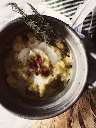 pancetta mashed potatoes for an italian thanksgiving gourmet project