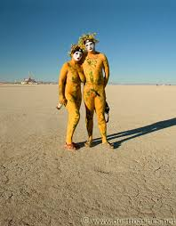 paint man adam and eve body painting art dust to ashes