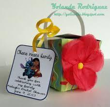 hawaiian themed wedding favors disney wedding shower bridal shower favor lilo and stitch