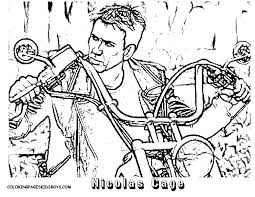 ghost rider coloring pages nicolas cage march 2016