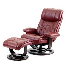 Massage Chair India Ottoman Recliner Chair And Ottoman Medium Chocolate Leather By