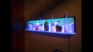 led lighted bar shelves floating bar shelves with lights led floating shelves blog page