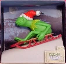 hallmark keepsake ornament kermit the frog on sled