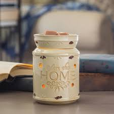 candle warmers etc 8 8 in bless this home cream illumination