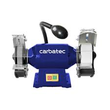 carbatec wide stone bench grinder with led light sharpening