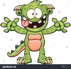 green cartoon monster vector clip art stock vector 273824927