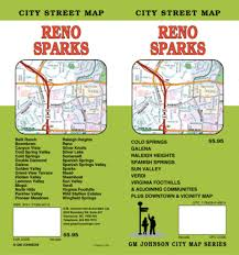 Sparks Nevada Map Reno And Sparks Nevada By Gm Johnson