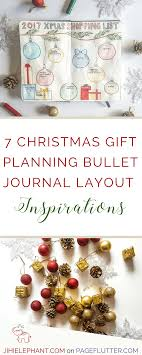 christmas gift shopping list 7 christmas gift planning bullet journal layout inspirations