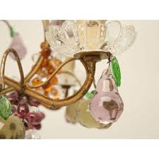 Glass Fruit Chandelier by French Crystal Fruit Chandelier Chairish