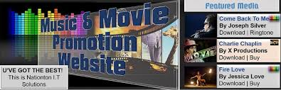 music and movie promotion website design best web designers in ghana