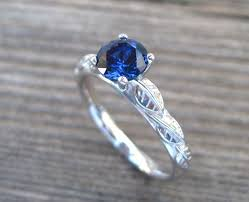 engagement rings with blue stones sapphire engagement ring leaves engagement ring antique