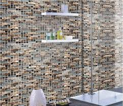 Glass Stone Mosaic Tile Natural Stone  Glass Interlocking Tile SG - Stone glass mosaic tile backsplash