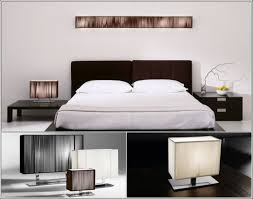 Bedside Table Lamps Classy Use Bright Bedside Table Lamps On Oak Nightstands Inside