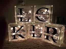 step by step how to make decorative lighted glass blocks diy
