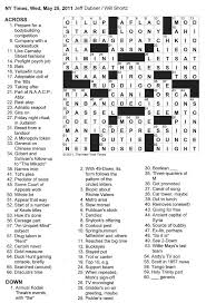 the new york times crossword in gothic 05 25 11 u2014 circled letters