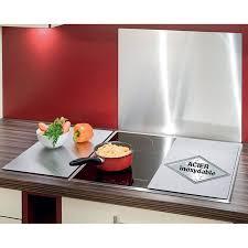 plaque protection murale cuisine 2 couvre plaques inox protection plaques de cuisson crédence