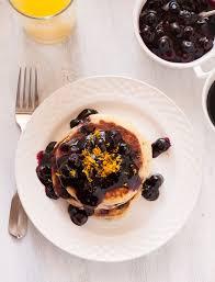 gluten free meyer lemon and blueberry pancakes
