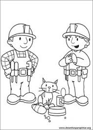bob builder holding shovel bob builder coloring pages