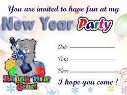 happy new year invitation happy new year party invitation cards wish you a happy new