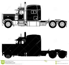peterbilt semi trucks silhouette of a truck peterbilt 379x stock photo image 60323747