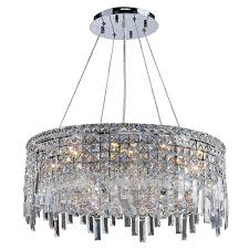 Chrome Crystal Chandelier by Worldwide Lighting Maria Theresa 54 Light Polished Chrome Crystal