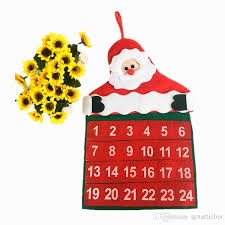 funny christmas calendars non woven fabrics xmas advent countdown