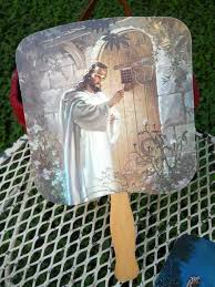 hand held fans for church rare church fan revival passion play sacred jesus knocking praying