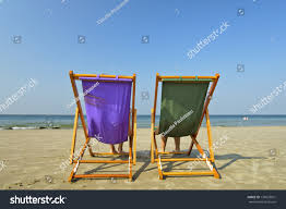 Two Beach Chairs Two Beach Chairs Stand Alone On Stock Photo 176023931 Shutterstock