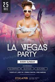 la vegas party free psd flyer template http freepsdflyer com