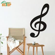 compare prices on wall decor music notes online shopping buy low dctop large size treble clef musical note wall decals vinyl removable wall decor sticker for living