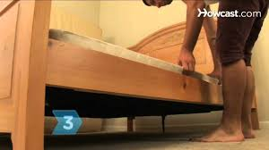 How To Make A Platform Bed From A Regular Bed by How To Stop A Box Spring From Squeaking Youtube