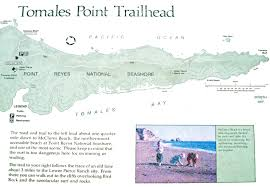 Map Of Long Beach California Tomales Point Trail Map Point Reyes National Seashore California