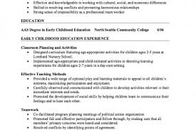 Early Childhood Education Resume Sample by Best Early Childhood Teacher Resume Reentrycorps