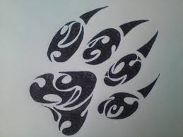tribal paw print tattoo pictures to pin on pinterest tattooskid