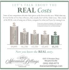 funeral homes prices our prices maraman billings funeral home shepherdsville ky
