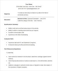 internship resumes hitecauto us