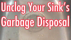 how to unclog my sink how to unclog garbage disposal drain clogged with potato