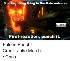 Falcon Punch Meme - scariest living thing in the halo universe hal memes first