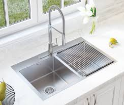 metal kitchen sink and cabinet combo single handle faucet combo 33 l x 22 w basin dual mount kitchen sink with faucet and basket strainer