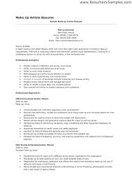 makeup artist resume template artist resume templates template sle writing guide within