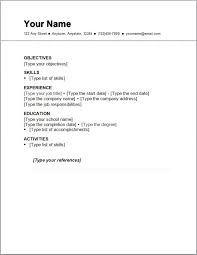 exle of simple resume format exle of simple resume format basic resume template16 yralaska