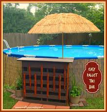 swim up bar in for above ground pool already have the pallet