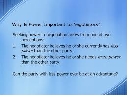 Seeking Negotiation Finding And Using Negotiation Power Chapter Seven Ppt