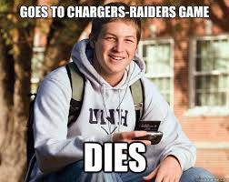 Chargers Raiders Meme - fun with san diego chargers memes bolts from the blue