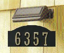 solar powered porch light for address numbers mailboxes and