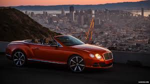 orange bentley 2014 bentley continental gt speed convertible flame orange side